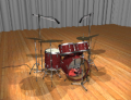 drum kit - lit and rendered