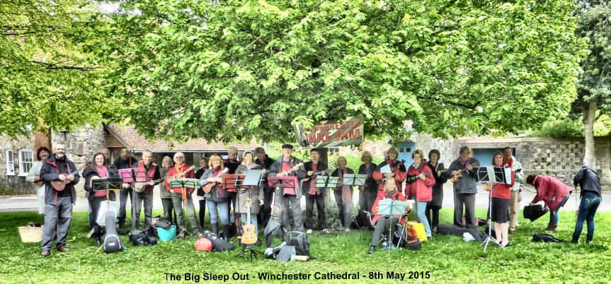 The Big Sleep Out - Winchester Cathedral - 8th May 2015